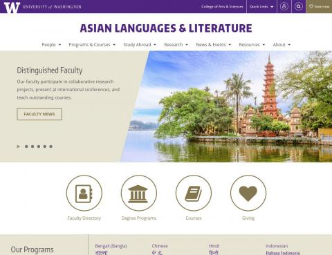 UW Department of Asian Languages & Literature