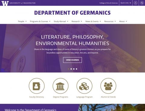 UW Department of Germanics
