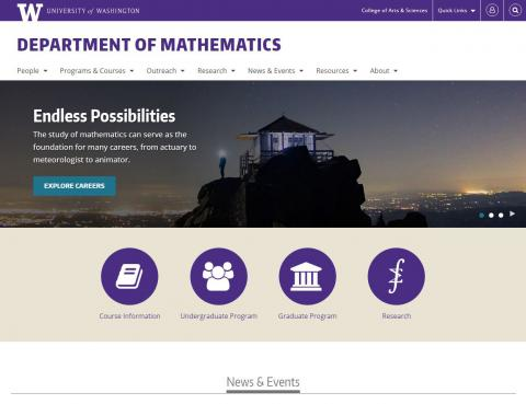 UW Department of Mathematics
