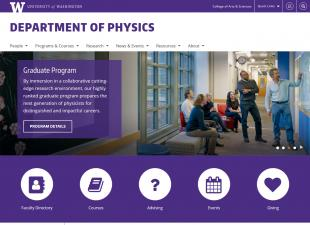 UW Department of Physics website